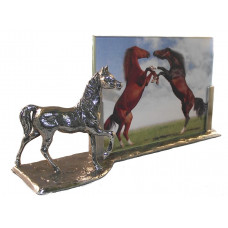 Photo frame horse with waxine holder