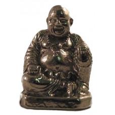 Happy boeddha gepatineerd glanzend tin.