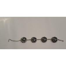 Bracelet with crystal color length 20,5cm