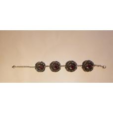 Bracelet with fuchia length 20,5cm
