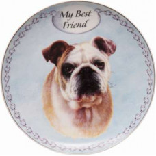 English bulldog plate