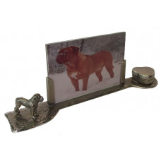 Bordeaux dog memorial photo frame