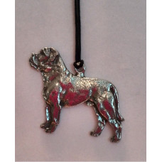 American bulldog necklace flat