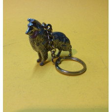 Collie rough body keychain