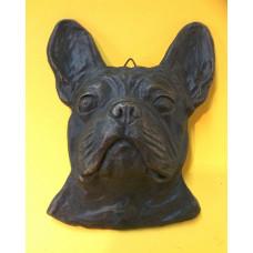 French bulldog head big bronzed
