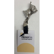French bulldog number holder/showclip