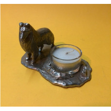 Collie rough large candleholder