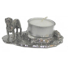 Bordeauxdog waxine holder