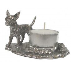 Chihuahua with candle holder