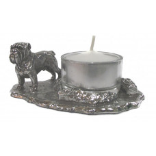 English bulldog candleholder