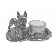 French bulldog female candle holder large