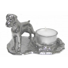 Boxer with tail candle holder large