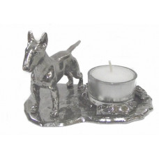 Bull terrier candle holder large