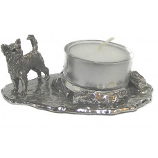 Chihuahua candle holder small