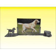 Labrador gepatineerd glanzend tin herdenkingsfotolijst