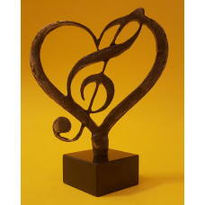love for music, bronze