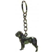 Sleutelhanger bordeaux dog 3D